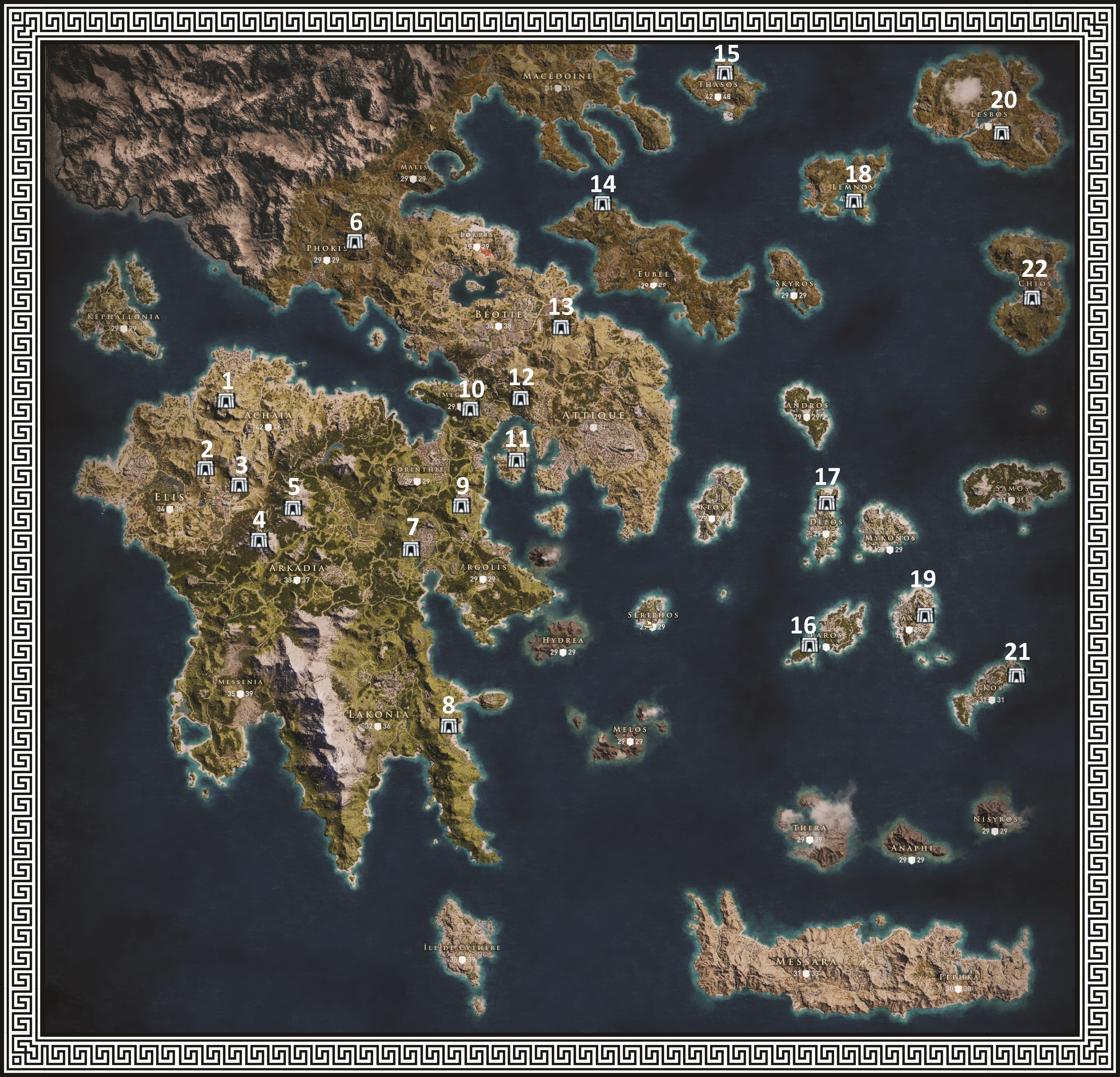 carte assassin creed odyssey Soluce] Assassin's Creed Odyssey : Carte et emplacements des