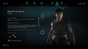 Assassin Creed Valhalla, la colère des druides enfant du danu soluce guide ,Ruaidri des ports, Le Cerf , indice emplacement location cart