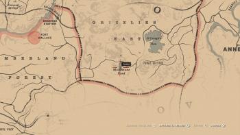 Emplacement Hachette à équarrir, Red Dead Redemption 2, soluce, map, xbox one, ps4, objets cachés, rockstar games