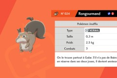 Pokemon Rongourmand Forêt de Sleepwood