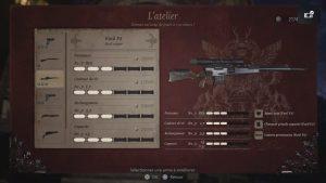 resident evil 8 village, fusil sniper fusil F2 ,emplacement de toute les arme et accessoire du jeu, soluce, astuce, guide, re 8, pc, ps5, resident evil village