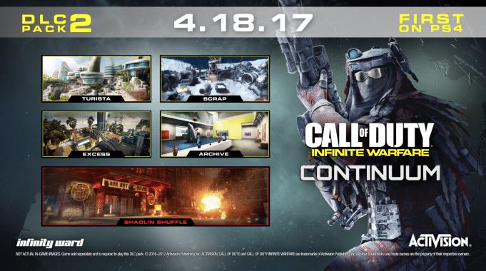 Call of du ty infinite warfare continuum dlc maps