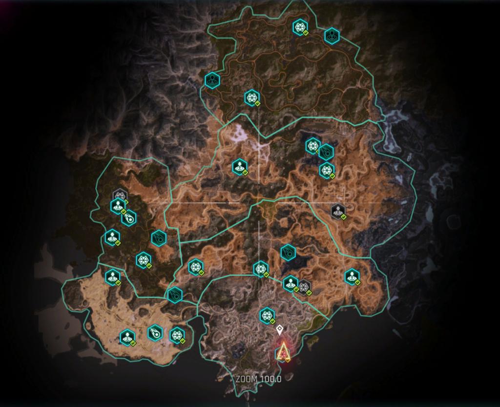 toutes les arches de rage 2 location position localisation