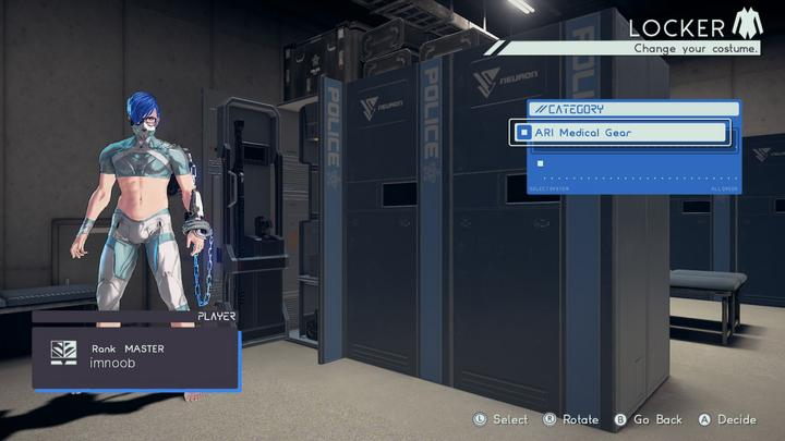 Astral chain, Matériel médical ARI (ARI medical gear), soluce costume