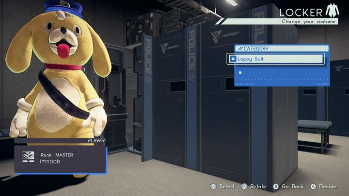 Astral chain costume de lappy, lappy's suit, soluce costume