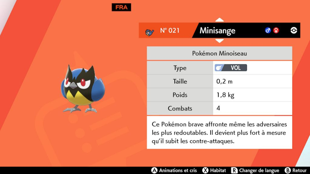 solution cheminement route 2 pokemon epee bouclier, minisange emplacement
