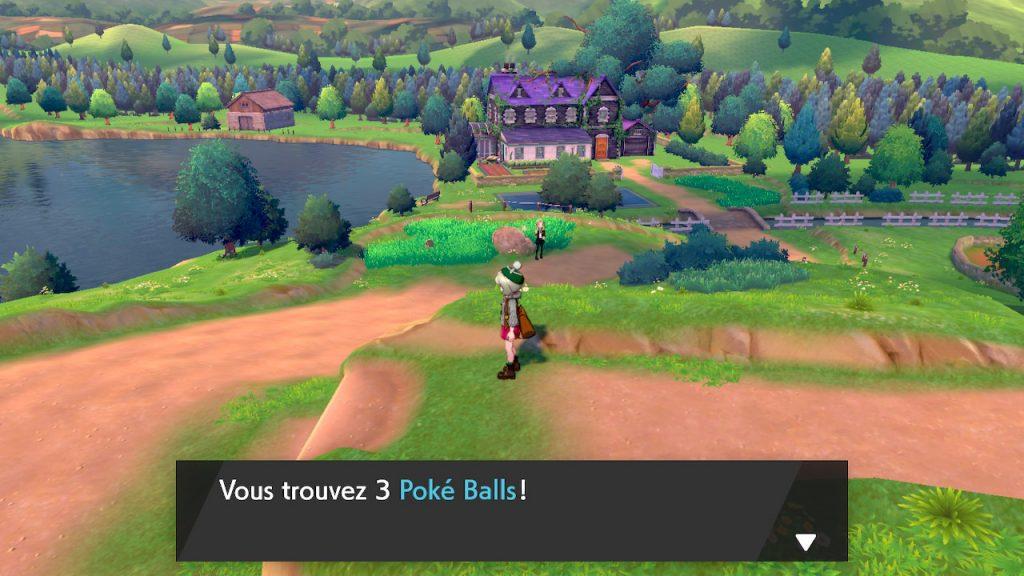 solution cheminement route 2 pokemon epee bouclier emplacement objet poké balls