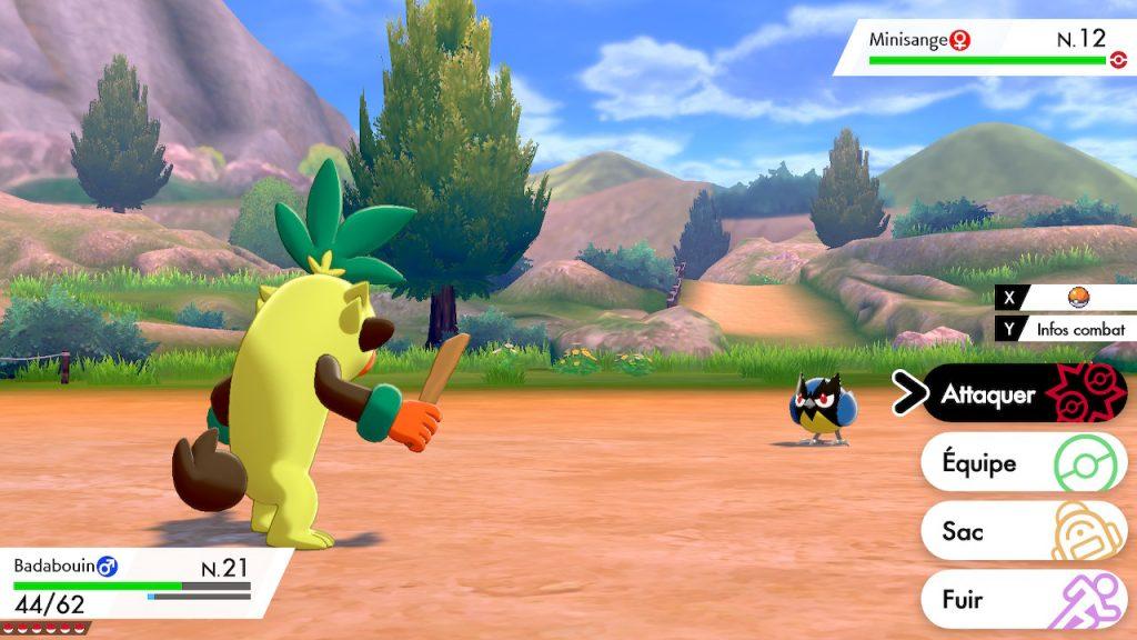 Solution pokémon épée et bouclier route 3 emplacement pokemon minisange