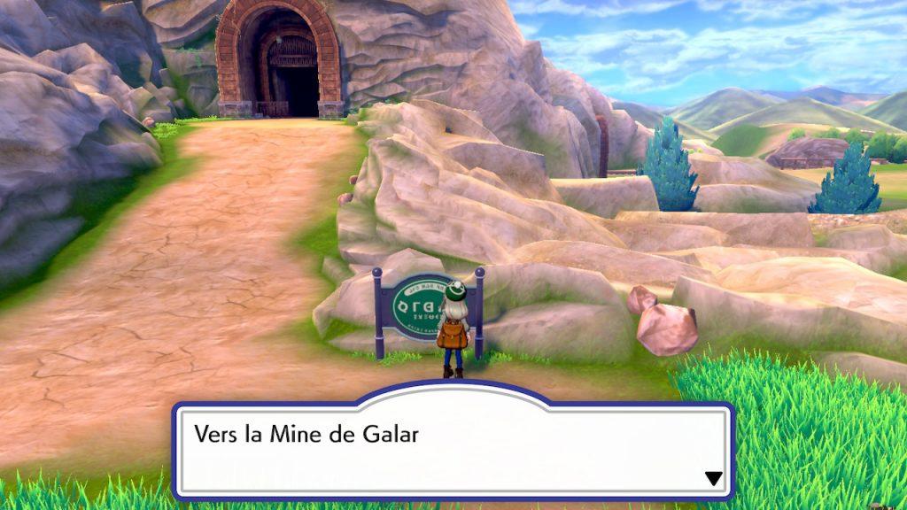 Solution pokémon épée et bouclier route 3 emplacement mine de galar