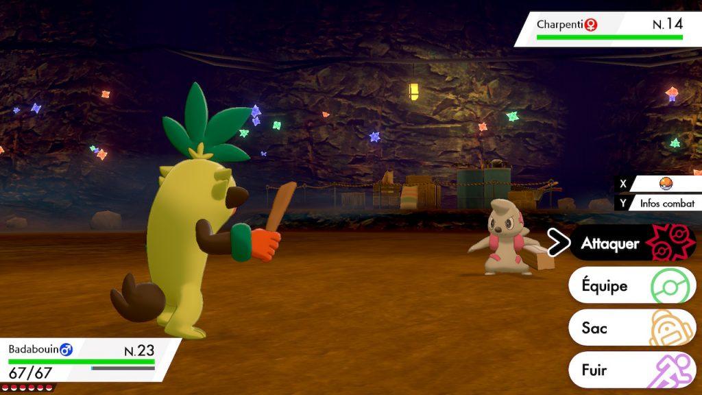 Solution pokemon épée et bouclier, mine de galar emplacement charpenti
