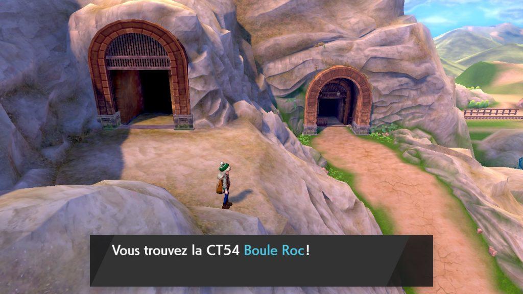 Solution pokemon épée et bouclier, mine de galar emplacement objet CT54 Boule Roc