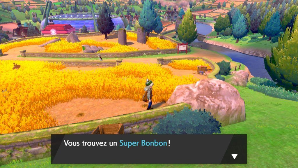 soluce, route 4 pokemon épée et bouclier, solution emplacement pokemon et liste objets super bonbon