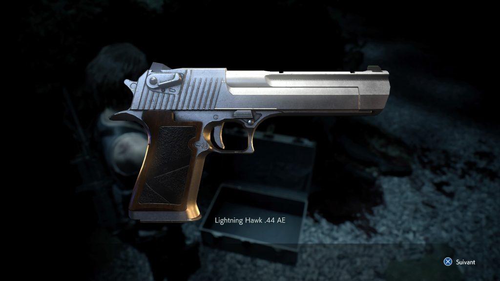 resident evil 3 remake, soluce et guide des arme, lightning hawk magnum emplacement