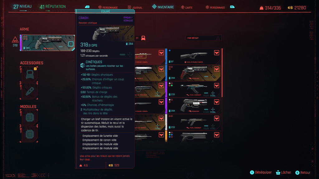 guide soluce cyberpunk 2077 arme weapon meilleur best location emplacement crash
