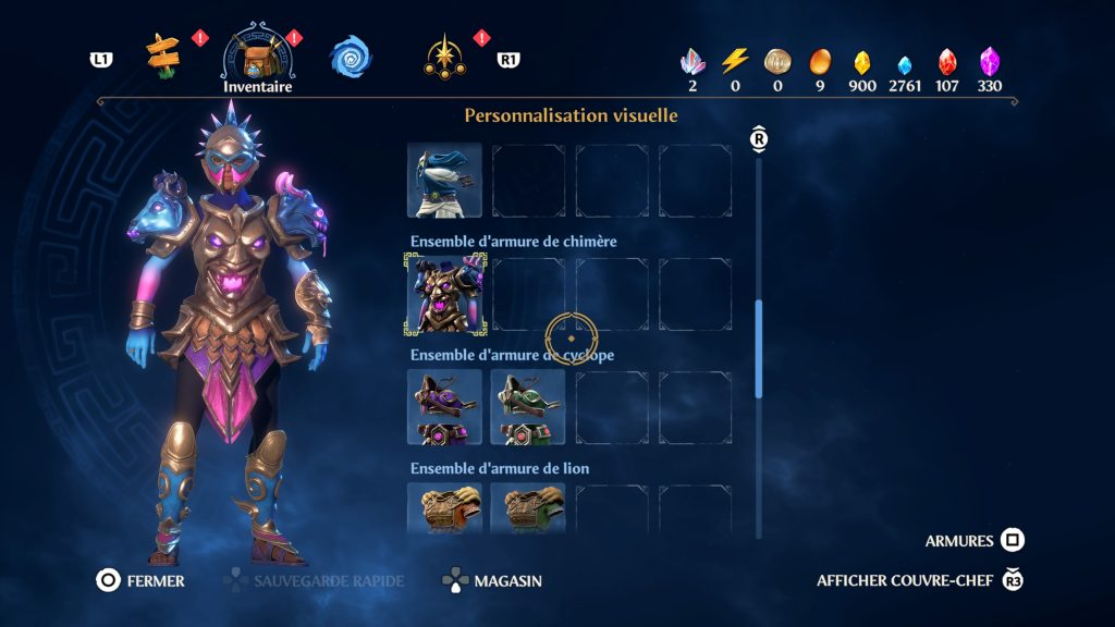 immortals fenyx rising guide armure soluce fr
