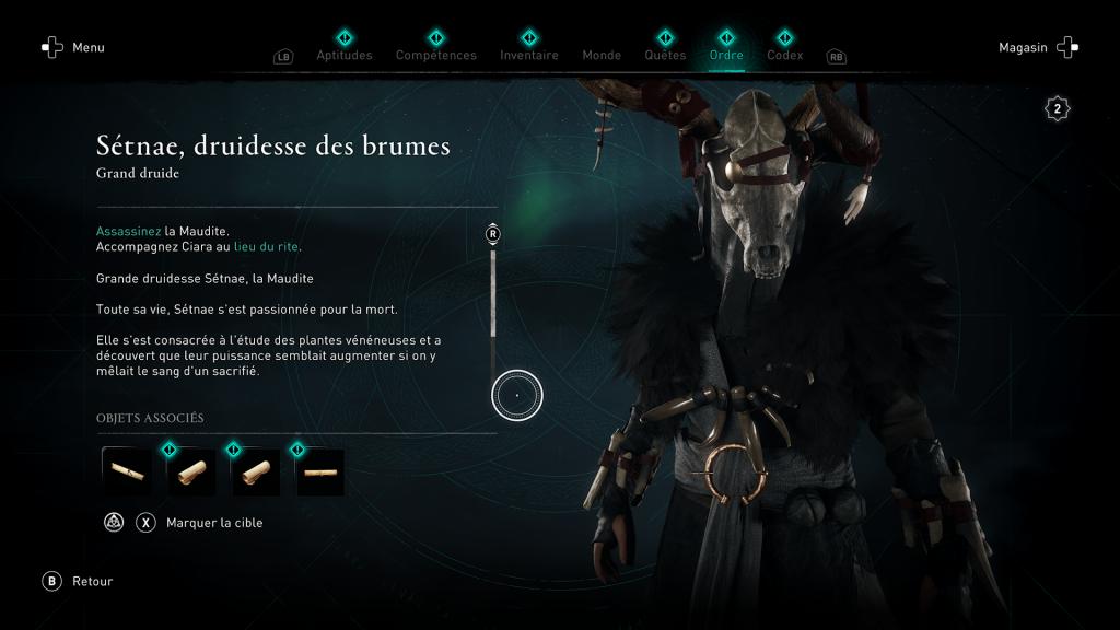 Assassin Creed Valhalla, la colère des druides, enfant du danu, soluce, guide, la maudite, sétnae druidesse des brumes, indice, emplacement location, carte,