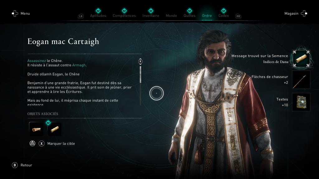 Assassin Creed Valhalla, la colère des druides, enfant du danu, soluce, guide, le chêne, indice, emplacement location, carte, eogan mac cartaigh